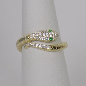 Jewelry - serpentine ring serpent ring snake ring pave